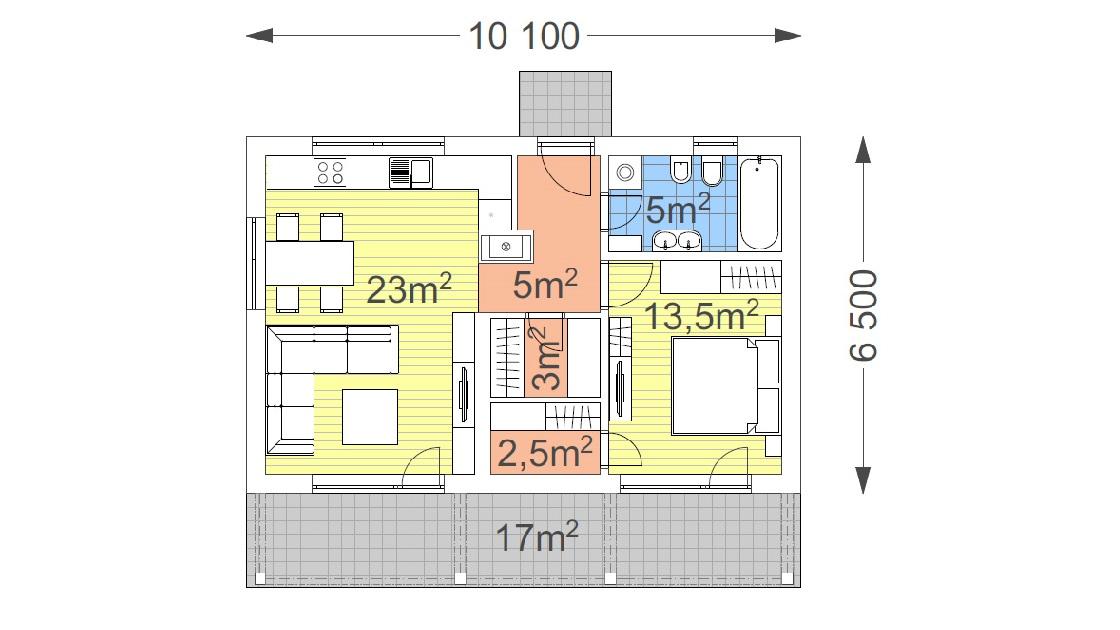 Jednopodlažný dom